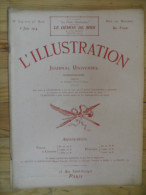 L´illustration  (N° 3719  -  6 Juin 1914)   72° Année - Livres, BD, Revues