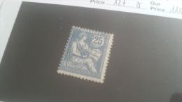 LOT 215254 TIMBRE DE FRANCE NEUF* N�127 VALEUR 110 EUROS