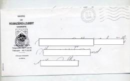 Lettre Flamme Muette Roumazieres Entete Mairie - Marcophilie (Lettres)