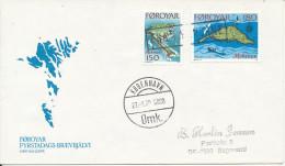 Faroe Islands Ship Cover Fra Færøerne (FROM FAROE ISLANDS) Copenhagen 27-1-1978 - Faroe Islands