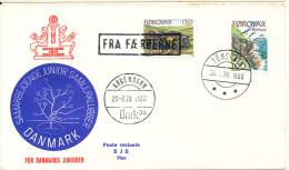 Faroe Islands Ship Cover Fra Færøerne (FROM FAROE ISLANDS) Copenhagen 23-2-1978 - Faroe Islands