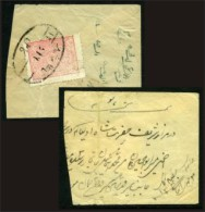 Afghanistan Scott #217. SG #176. Large Part Of A Small Cover (about 60%) Bearing The 10 Paisa Rose, Cancelled - Afghanistan
