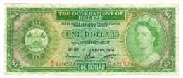 Belize, 1 Dollar 1976, F/VF. - Belice