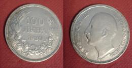 BULGARIA 100 LEVA 1930 SILVE COIN ARGENTO - Bulgaria