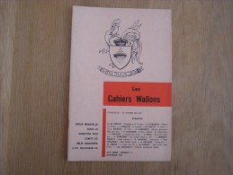 LES CAHIERS WALLONS N° 11 1982 Bodart Mathot Vandertie Danhaive Gilliard Smal Poètes Poèsie Dialecte Namur Poêmes Patois - België
