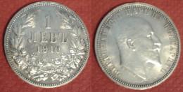 BULGARIA 1 LEVA 1910 SILVE COIN ARGENTO - Bulgaria