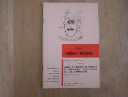 LES CAHIERS WALLONS N° 4 Et 5  1983 Contes Wallons Lambillion L.J.L. Poètes Poèsie Dialecte Namur Poêmes Patois - België