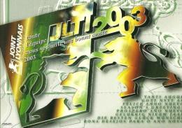 ILLUSTRATEUR CHRISTIAN CHABERT  BONNE ANNEE 2003 JOINT LYONNAIS  VOIR DOS - Künstlerkarten
