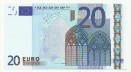 20 EURO BILLET ITALIE/ITALIA S J027 FDS/NEUF/UNC TRICHET - 20 Euro