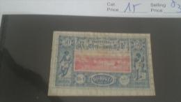 LOT 215458 TIMBRE DE COLONIE COTE DE SOMALIS NEUF* N�15 VALEUR 37 EUROS