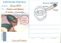LUCCA COMICS-CARTOLINA POSTALE SOPRASTAMPA PRIVATA-ANNULLO LUCCA COMICS & GAMES - Merchandising
