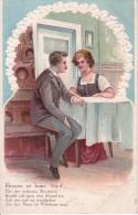 AK Küssen Ist Keine Sünd' - Reliefkarte - 1907 (7553) - Paare