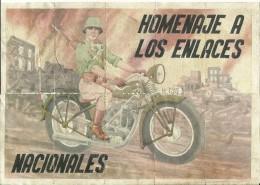 441-*SPAIN CIVIL WAR*10 UNCUT COUPONS*GUERRA CIVIL ESPA�OLA*VILLANUEVA DE ALCARDETE, TOLEDO*1939*