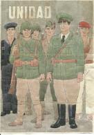 442-*SPAIN CIVIL WAR*10 UNCUT COUPONS*GUERRA CIVIL ESPA�OLA*S�STAGO, ZARAGOZA*UNIDAD*
