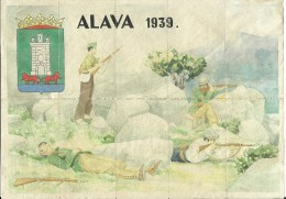 444-*SPAIN CIVIL WAR*10 UNCUT COUPONS*GUERRA CIVIL ESPA�OLA*�LAVA 1939*