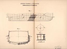 Original Patent - Andreas Darmer In Stralsund I. Mecklenburg ,1897, Luftzellenschutzwand Für Schiffe , Schiffbau , Werft - Schiffe