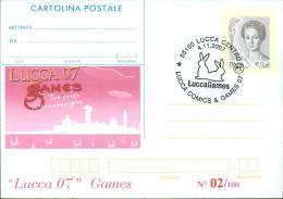 LUCCA 07 JUNIOR COMICS-CARTOLINA POSTALE SOPRASTAMPA PRIVATA-ANNULLO  LUCCA COMICS & GAMES - Merchandising