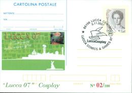 LUCCA 07 COSPLAY-CARTOLINA POSTALE SOPRASTAMPA PRIVATA-ANNULLO  LUCCA COMICS & GAMES - Merchandising