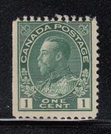 Canada MNH Scott #104 1c George V, Admiral - Straight Edge - Neufs