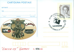 LUCCA 05 GAMES-CARTOLINA POSTALE SOPRASTAMPA PRIVATA-ANNULLO  LUCCA COMICS & GAMES - Merchandising