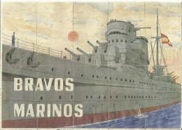 453-*SPAIN CIVIL WAR*10 UNCUT COUPONS*GUERRA CIVIL ESPA�OLA*VILLAFUERTE, VALLADOLID 1941*BRAVOS MARINOS*