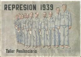 454-*SPAIN CIVIL WAR*10 UNCUT COUPONS*GUERRA CIVIL ESPA�OLA*C�RCEL DE ALCAL� DE HENARES, MADRID 1939*
