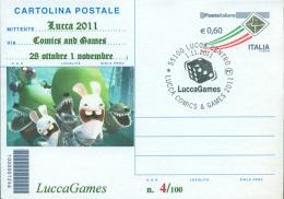 LUCCA  GAMES-CARTOLINA POSTALE SOPRASTAMPA PRIVATA-ANNULLO  LUCCA COMICS & GAMES - Merchandising