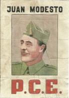 456-*SPAIN CIVIL WAR*10 UNCUT COUPONS*GUERRA CIVIL ESPA�OLA*MIERES, ASTURIAS 1937*JUAN MODESTO, P.C.E.*