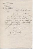 Lettre Commerciale De Richer, Chaux Hydrauliques à Crulai (61), 19/11/1891 - France