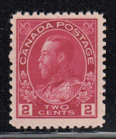 Canada MNH Scott #106ii 2c George V, Admiral - Pencil Mark On Gum - 1911-1935 Règne De George V
