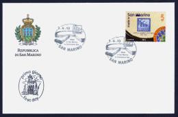 """2013 SAN MARINO """"MADE IN SAN MARINO: LA SERENISSIMA SPA"""" FDC SINGOLO - FDC"""
