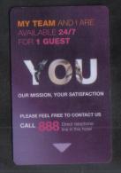 HOTEL KEY CARD -  NOVOTEL  HOTEL - Hotel Keycards