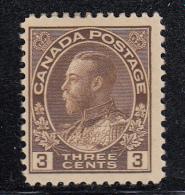 Canada MH Scott #108 3c George V, Admiral - Neufs