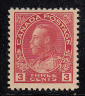 Canada MH Scott #109 3c George V, Admiral - Neufs