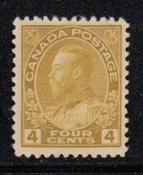 Canada MH Scott #110 4c George V, Admiral - Neufs