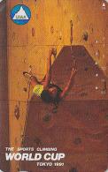 Télécarte Japon / 110-114265 - Sport - ESCALADE - CLIMBING / WORLD CUP Tokyo 1991 - Japan Phonecard - Escalada - 04 - Montagnes