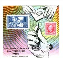 Bloc CNEP N° 44 : Salon D´automne 2005 , Paris - Art Du Timbre Gravé . Voir Le Scan . Cote Maury N° 44 : 15 € . - CNEP