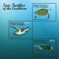 GRENADA & CARRIACOU + ; SCOTT # 2870 ; IGPC 1319 SH ; MINT N.H STAMPS ( SEA TURTLES - Grenada (1974-...)