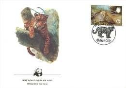 1983  Jaguar Swimming  WWF FDC - Belize (1973-...)