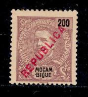 ! ! Mozambique - 1917 King Carlos Local Republica 200 R - Af. 197 - MH - Mozambique