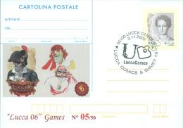 LUCCA  COMICS & GAMES-CARTOLINA POSTALE SOPRASTAMPA PRIVATA-ANNULLO  LUCCA - Merchandising