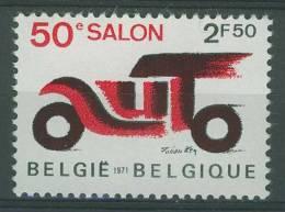 "Belgie Belgique Belgium 1971 Mi 1625 * MH - 50th  Brussels Motor Show - ""a U T O"" /  Automobilsalon - Auto's"