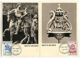 !!! CARTES MAXIMUM PAIRE DE CROIX ROUGE 1960 CACHETS 1ER JOUR - Cartes-Maximum