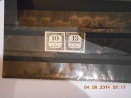 AG_lot N°9_Lot De Timbres Taxe Neuf ,petite Decchirure Sur Le 10c - Collections
