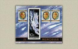 HUNGARY 1968 SPACE Astronauts IN MEMORIAM - Fine S/S MNH - Ungebraucht