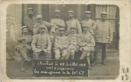 """63 - Ambert - Le 25 Juillet 1915 - """"101 ème D´Infanterie - Les Sous-Officiers De La 20 ème Cie.** - Photo; Prat à Ambert - France"""