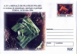 MINERAL Entier Postal Stationery ROMANIA  2004 - Registered Sending! Envoi Enregistre! - Minerali