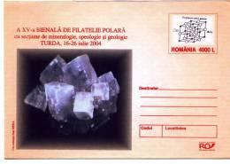 MINERAUX MINERALS Entier Postal Stationery ROMANIA K2004075 - Registered Sending! Envoi Enregistre! - Minerali
