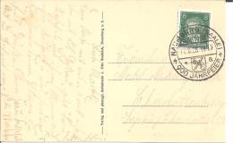 W184/ Nnauenburg, 900 Jahre. Sonderstempel 1928 +Ansichtskarte Schönburg - Briefe U. Dokumente