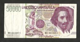 REPUBBLICA ITALIANA - 50000 Lire BERNI II° Tipo (Firme: Fazio / Amici) - [ 2] 1946-… : Repubblica